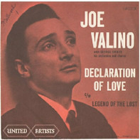 Joe Valino With George Siravo And His Orchestra - Declaration Of Love
