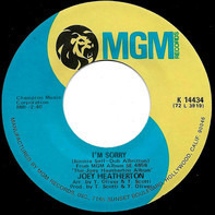 Joey Heatherton - I'm Sorry / Someone To Watch Over Me