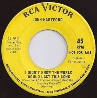 John Hartford - I Didn't Know The World Would Last This / The Category Stomp