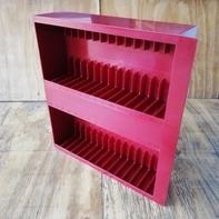 Kassetten-Schublade für LP-Box - in dunkelrot, für 30 Stück