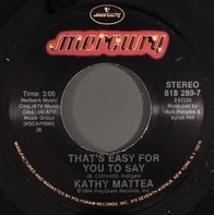 Kathy Mattea - That's Easy For You To Say