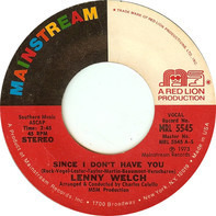 Lenny Welch - Since I Don't Have You
