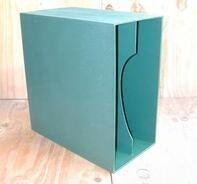 LP-Box, 70er Jahre - in grün, für ca. 40 LPs