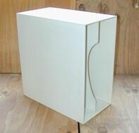 LP-Box, 70er Jahre - in weiß, für ca. 40 LPs