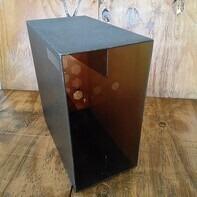 LP-Box, 70er Jahre - in transparent dunkelgrau, für ca. 40 LPs