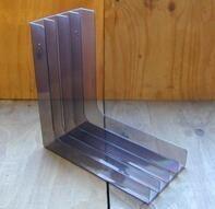 LP-Winkel, 70er Jahre - in transparent braun, für ca. 40 LPs