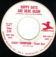Lucky Thompson - Happy Days Are Here Again / Cry Me A River