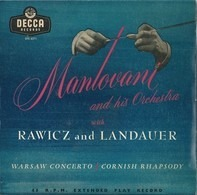 Mantovani And His Orchestra With Rawicz & Landauer - Warsaw Concerto / Cornish Rhapsody