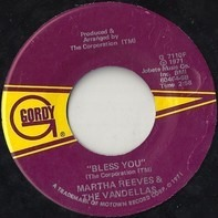 Martha Reeves & The Vandellas - Bless You / Hope I Don't Get My Heart Broke