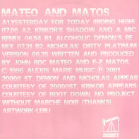 Mateo & Matos - Yesterday For Today (Riding High)
