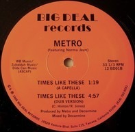 Metro Featuring Norma Jean Wright - Times Like These