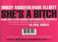 Missy 'Misdemeanor' Elliott, Missy Elliott - She's A Bitch