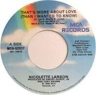 Nicolette Larson - That's More About Love