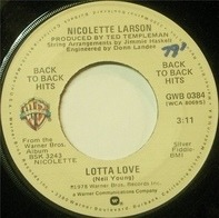 Nicolette Larson - Lotta Love / Give A Little