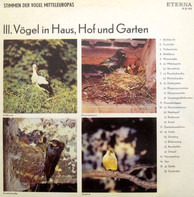 Sound Nature - Stimmen Der Vögel Mitteleuropas - III. Vögel In Haus, Hof Und Garten