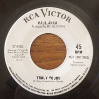 Paul Anka - Truly Yours / Oh, Such A Stranger