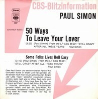 Paul Simon - 50 Ways To Leave Your Lover / Some Folks Lives Roll Easy