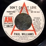 Paul Williams - Don't Call It Love