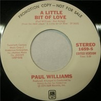 Paul Williams - A Little Bit Of Love / Nice To Be Around