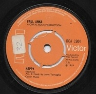 Paul Anka - Happy / Can't Get You Out Of My Mind