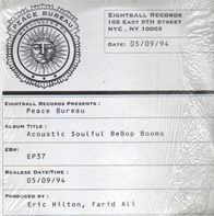 Peace Bureau - Acoustic Soulful Bebop Booms