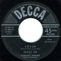 Peggy Lee And Gordon Jenkins And His Orchestra - LOVER