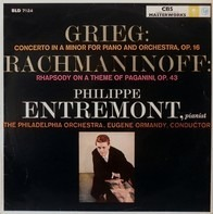 Philippe Entremont , The Philadelphia Orchestra , Eugene Ormandy Conducts Edvard Grieg , Sergei Vas - Concerto In A Minor For Piano And Orchestra, Op. 16