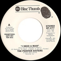 Pointer Sisters - I Need A Man