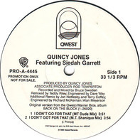 Quincy Jones Featuring Siedah Garrett - I Don't Go For That