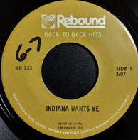 R. Dean Taylor / Bobby Vee - Indiana Wants Me / The Night Has A Thousand Eyes