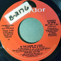 Ralph MacDonald - In The Name Of Love