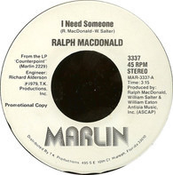Ralph MacDonald - I Need Someone / Discolypso