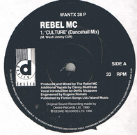 Rebel MC - Culture / Comin' On Strong