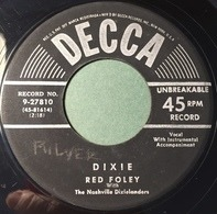 Red Foley With The Nashville Dixielanders - Alabama Jubilee / Dixie
