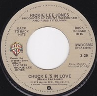 Rickie Lee Jones - Chuck E.'s In Love / Young Blood