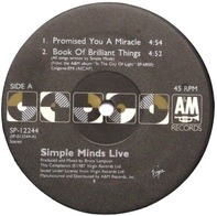 Simple Minds - Promised You A Miracle / Book Of Brilliant Things