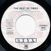 Styx - The Best Of Times / Too Much Time On My Hands