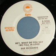 Sue Richards - Hey, What Do You Say (We Fall In Love)