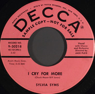 Sylvia Syms - I Cry For More