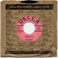 Ted Weems And His Orchestra - Heartaches / Oh! Monah