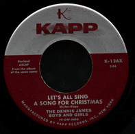 The Dennis James Boys And Girls - Let's All Sing A Song For Christmas