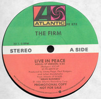 The Firm - Live In Peace