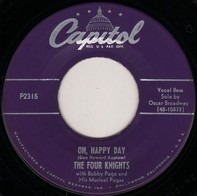 The Four Knights With Bobby Page And His Musical Pages - Oh, Happy Day