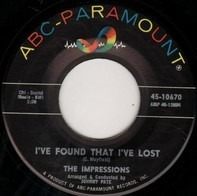 The Impressions - I've Found That I've Lost / Meeting Over Yonder