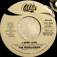 The Persuaders - I Need Love