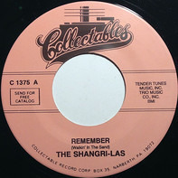 The Shangri-Las - Remember (Walkin' In The Sand) / It's Easier To Cry