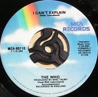 The Who - I Can't Explain / Bald Headed Woman