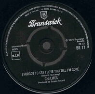 The Chi-Lites - I Lied / I Forgot To Say I Love You Till I'm Gone