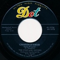The Fontane Sisters - Chanson D'amour / Cocoanut Grove