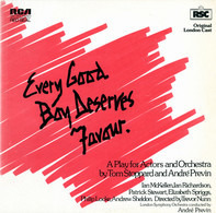 "Tom Stoppard and André Previn , The London Symphony Orchestra - Every Good Boy Deserves Favour ""A Play For Actors And Orchestra"""
